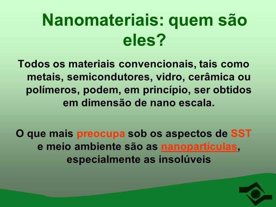 Nanomateriais: quem são eles? Todos os materiais convencionais, tais como metais, semicondutores, vidro, cerâmica ou polímeros, podem, em princípio, s