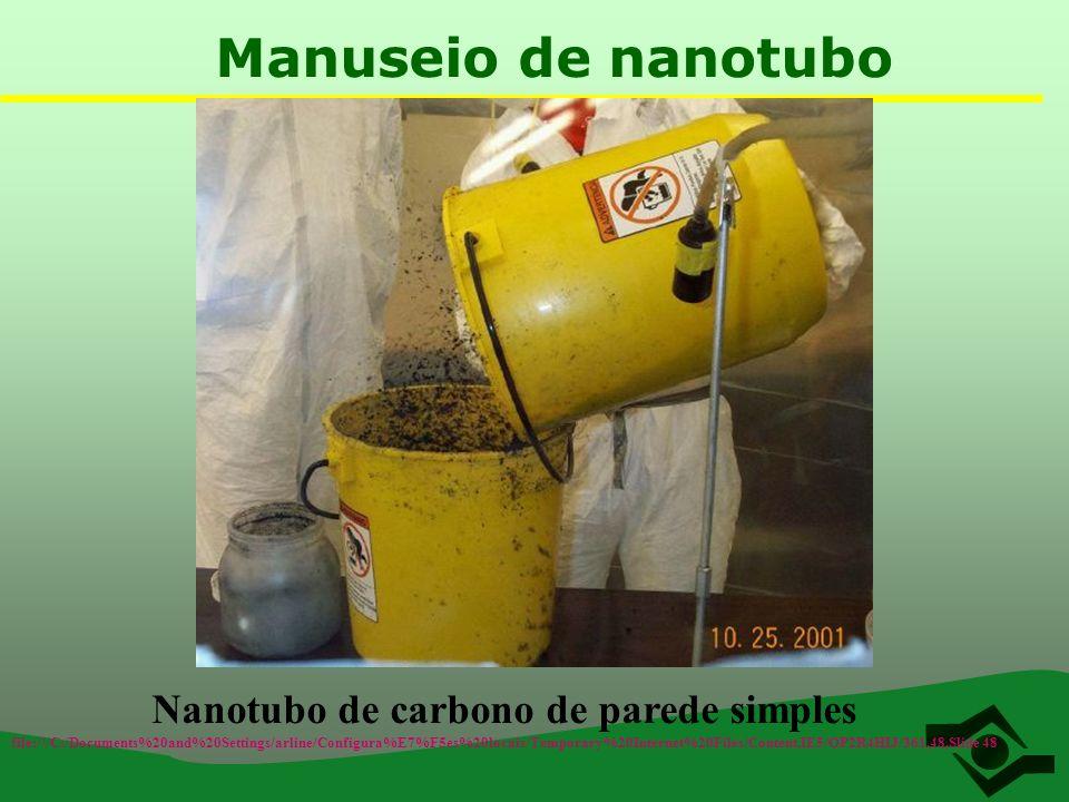 Manuseio de nanotubo Nanotubo de carbono de parede simples file:///C:/Documents%20and%20Settings/arline/Configura%E7%F5es%20locais/Temporary%20Interne
