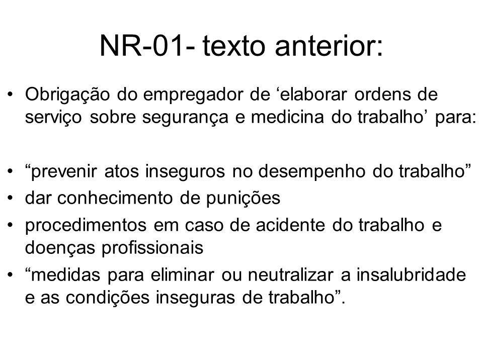 NR 01 – texto atual 1.7.