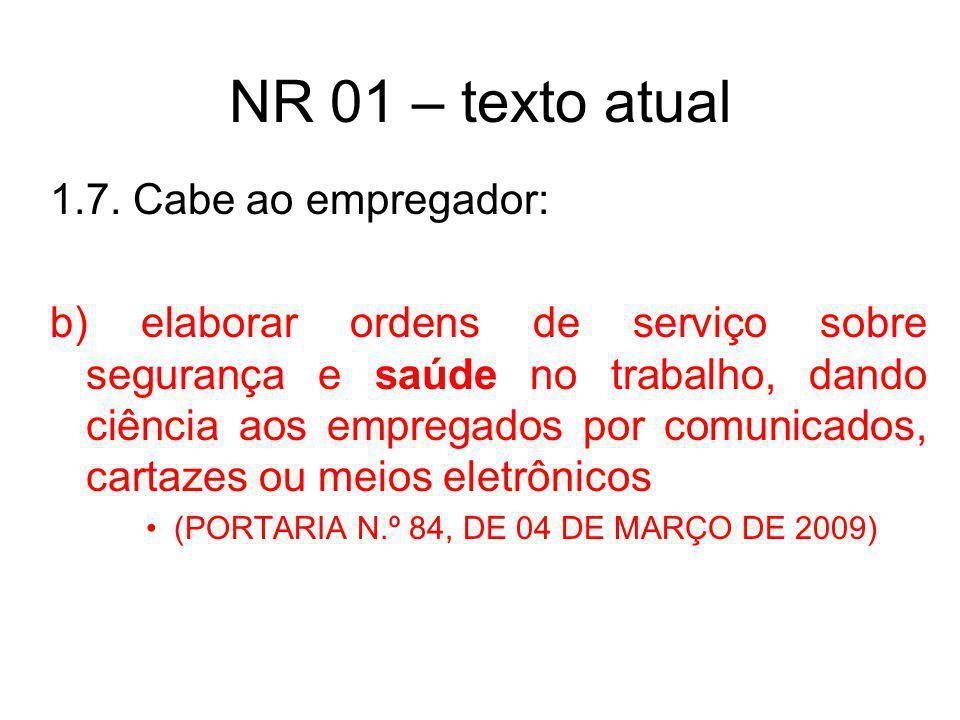 Norma Regulamentadora 01 1.7.