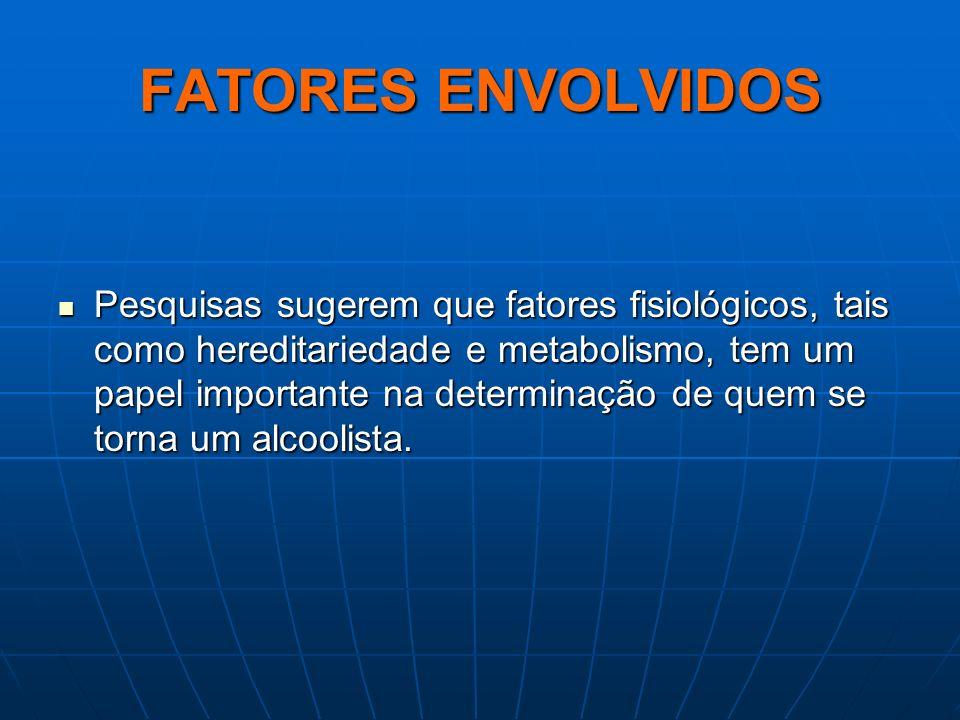 FATORES ENVOLVIDOS Pesquisas sugerem que fatores fisiológicos, tais como hereditariedade e metabolismo, tem um papel importante na determinação de que
