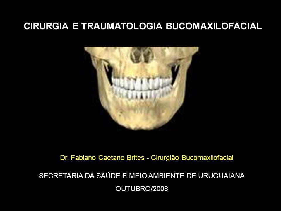 SECRETARIA DA SAÚDE E MEIO AMBIENTE DE URUGUAIANA OUTUBRO/2008 CIRURGIA E TRAUMATOLOGIA BUCOMAXILOFACIAL Dr. Fabiano Caetano Brites - Cirurgião Bucoma