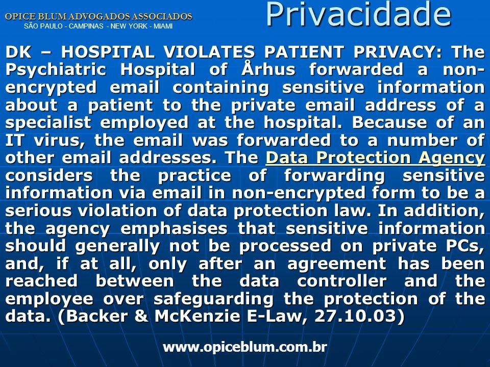 OPICE BLUM ADVOGADOS ASSOCIADOS OPICE BLUM ADVOGADOS ASSOCIADOS SÃO PAULO - CAMPINAS - NEW YORK - MIAMI www.opiceblum.com.br PLS 3173/97 comparado Per