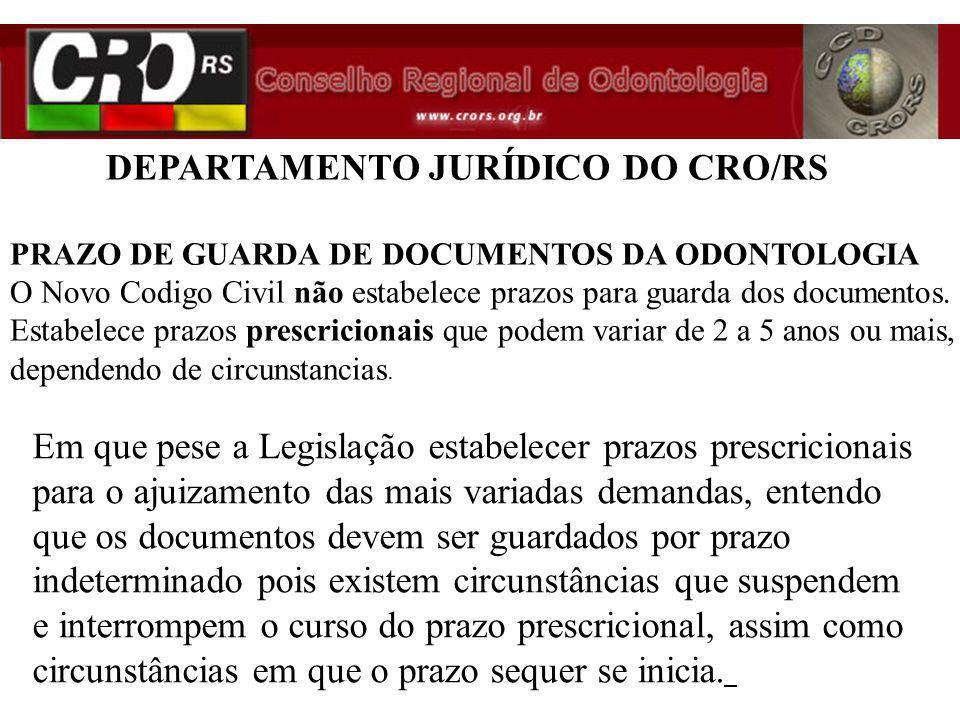 Em que pese a Legislação estabelecer prazos prescricionais para o ajuizamento das mais variadas demandas, entendo que os documentos devem ser guardado