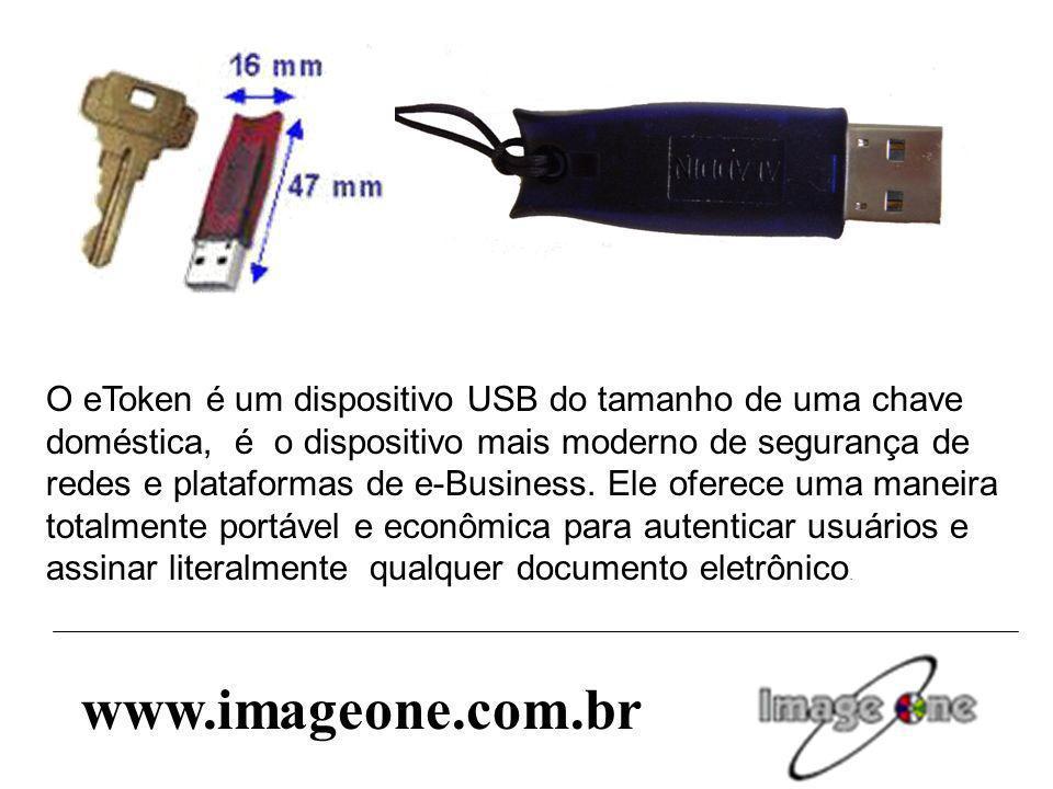 O eToken é um dispositivo USB do tamanho de uma chave doméstica, é o dispositivo mais moderno de segurança de redes e plataformas de e-Business. Ele o