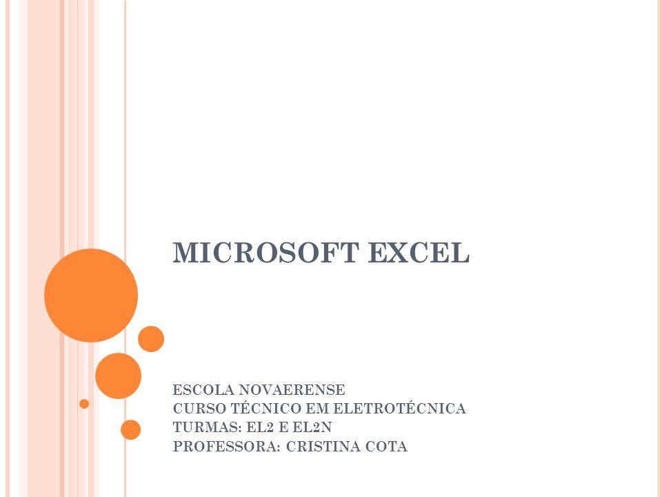 MICROSOFT EXCEL O Excel é um programa de planilha eletrônica desenvolvido pela Microsoft para Windows, que pode ser utilizado para calcular, armazenar e trabalhar com lista de dados, criar relatórios e gráficos, sendo recomendado para planejamentos, previsões, análises estatísticas e financeiras, simulações e manipulação numérica em geral.
