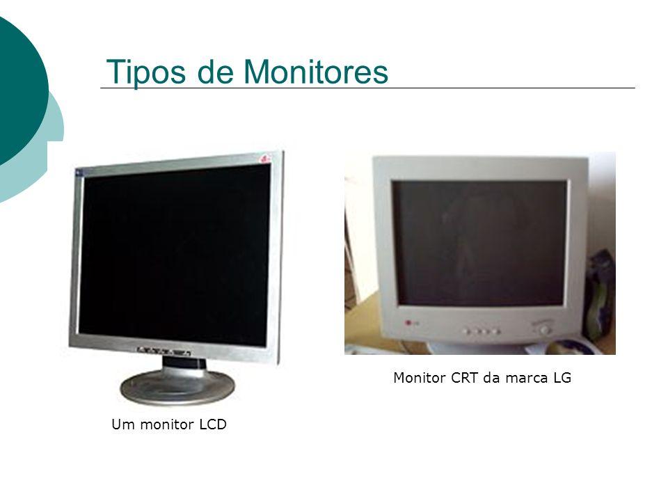 Tipos de Monitores Um monitor LCD Monitor CRT da marca LG