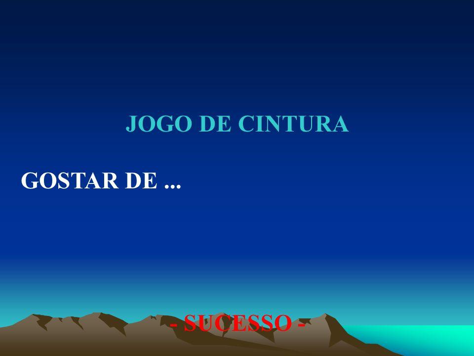 JOGO DE CINTURA GOSTAR DE... - SUCESSO -