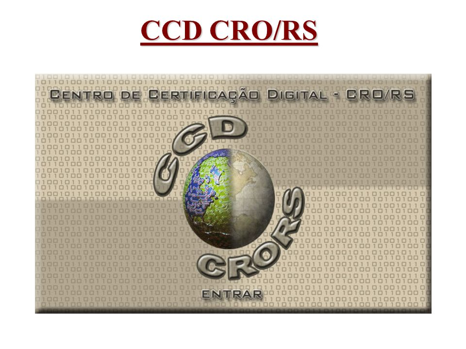 CCD CRO/RS Cuidados que devem ser passadas ao CD durante a adesão ao CCD: - Documentação em papel - Softwares Anti-Vírus - Backup dos Dados - Possibilidade de Fraude no processo