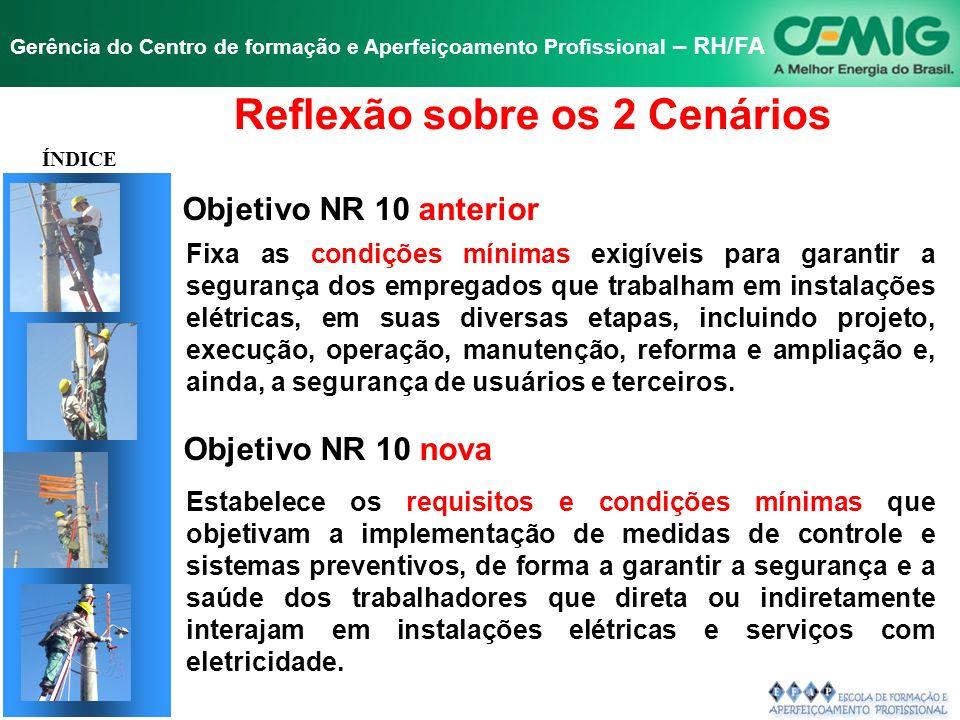 NR-10 SEGURANÇA EM INSTALAÇÕES E SERVIÇOS EM ELETRICIDADE Gerência do Centro de formação e Aperfeiçoamento Profissional – RH/FA 10.1 - OBJETIVO E CAMP