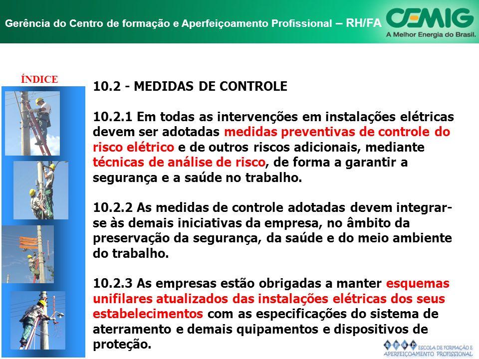 NR-10 SEGURANÇA EM INSTALAÇÕES E SERVIÇOS EM ELETRICIDADE Gerência do Centro de formação e Aperfeiçoamento Profissional – RH/FA Reflexão sobre os 2 Ce