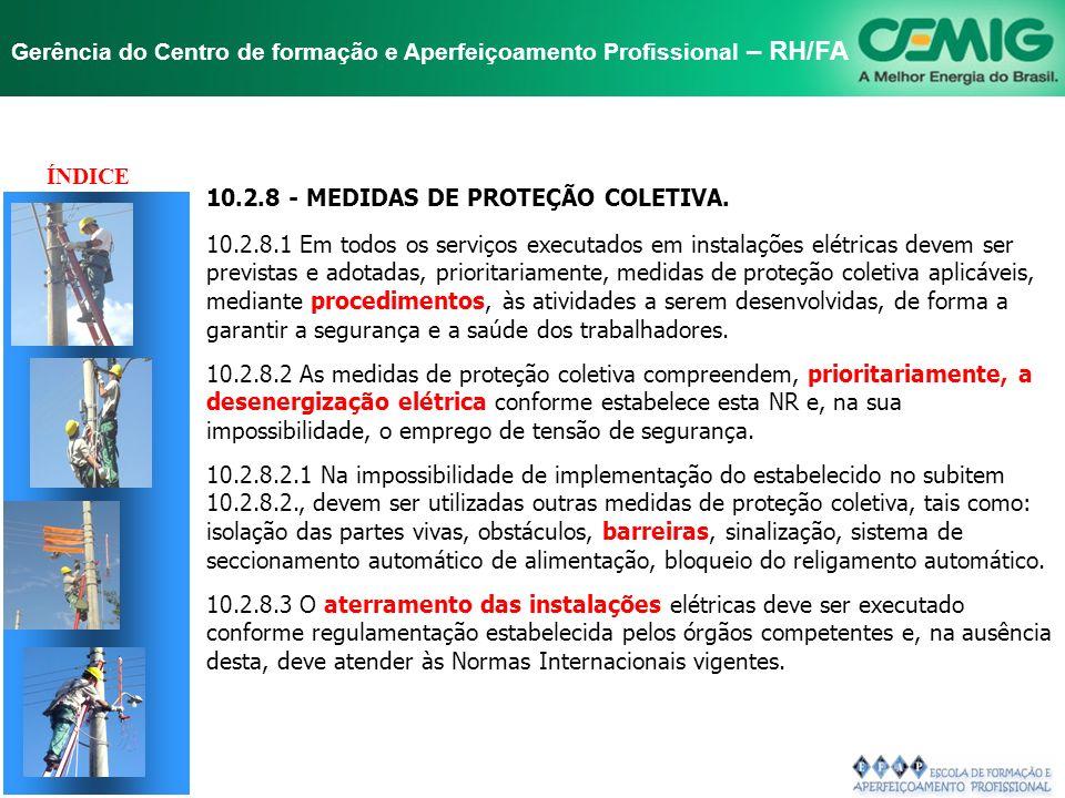 NR-10 SEGURANÇA EM INSTALAÇÕES E SERVIÇOS EM ELETRICIDADE Gerência do Centro de formação e Aperfeiçoamento Profissional – RH/FA TÍTULO 10.2 - MEDIDAS