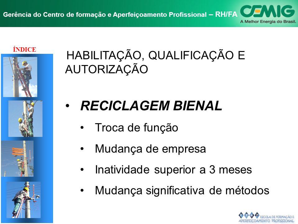 NR-10 SEGURANÇA EM INSTALAÇÕES E SERVIÇOS EM ELETRICIDADE Gerência do Centro de formação e Aperfeiçoamento Profissional – RH/FA Autorização de Trabalh