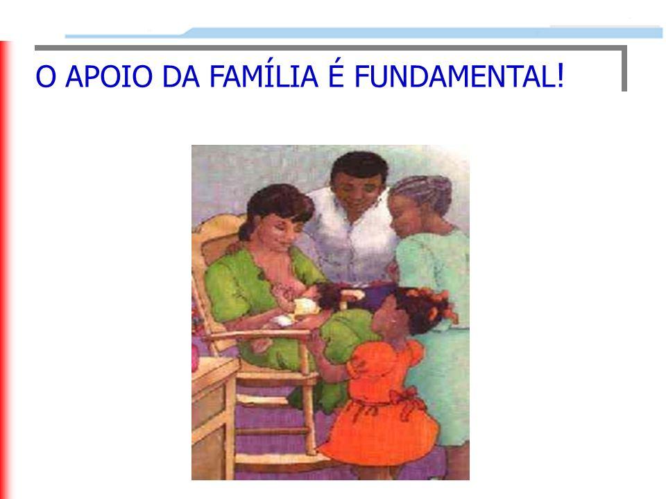 O APOIO DA FAMÍLIA É FUNDAMENTAL !