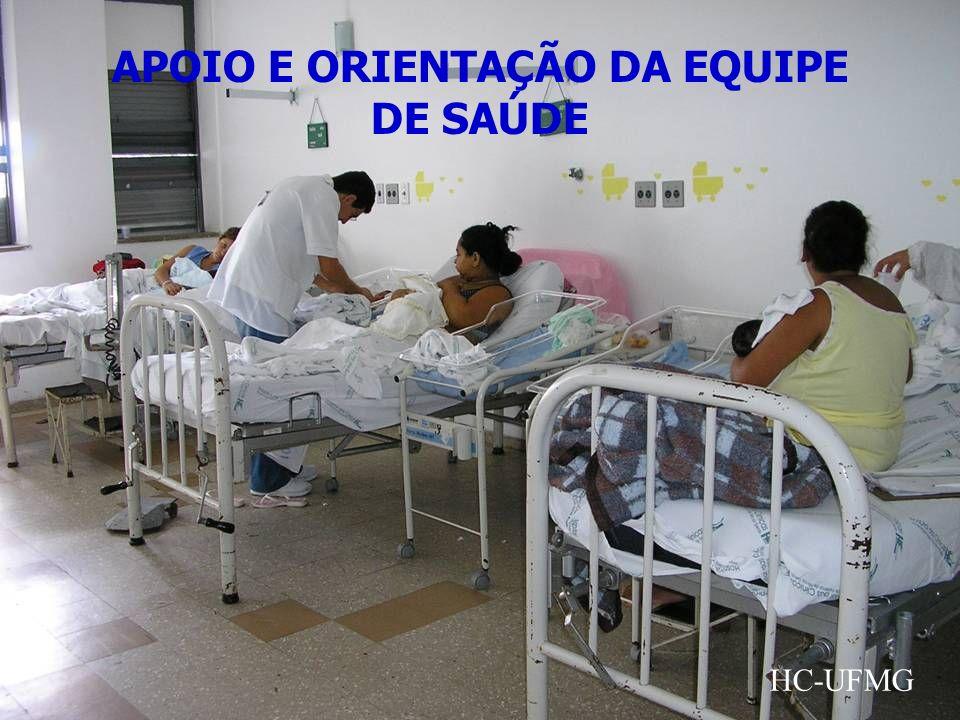 APOIO E ORIENTAÇÃO DA EQUIPE DE SAÚDE