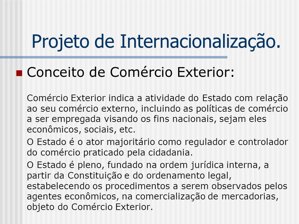 Projeto de Internacionalização.
