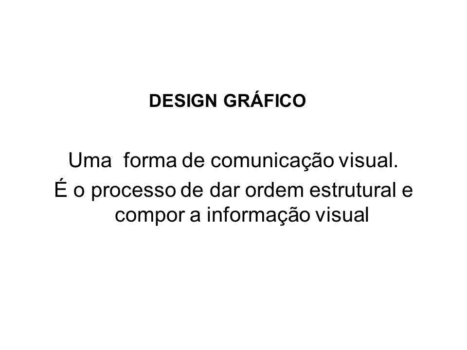 DESIGN GRÁFICO Uma forma de comunicação visual.