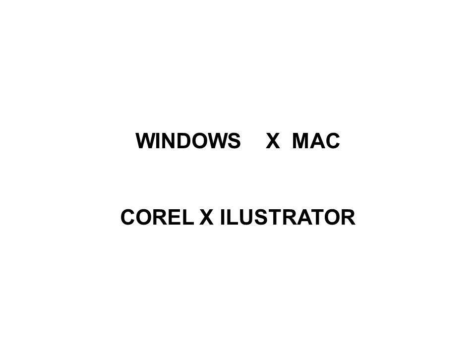WINDOWS X MAC COREL X ILUSTRATOR