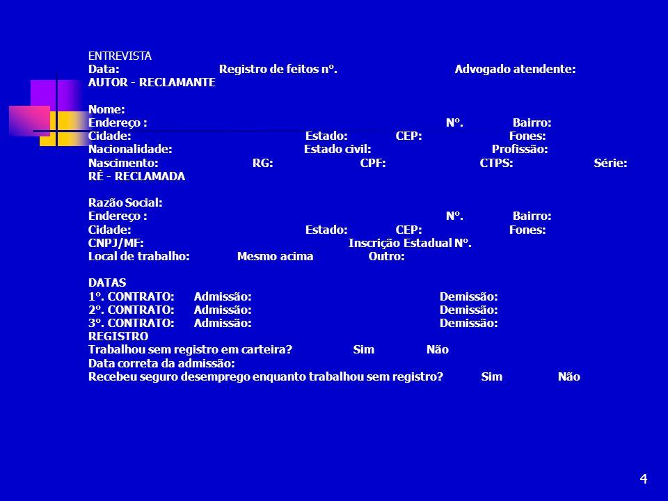35 NOTIFICAÇÃO DA RECLAMADA Assegura validade processual Evita nulidade absoluta Via postal Via oficial de justiça Via edital, salvo no sumaríssimo, mas é possível (ler ata) Art.