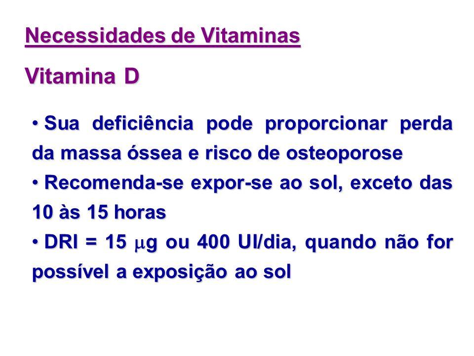 Interage com a Vitamina C formação de radicais livres Interage com a Vitamina C formação de radicais livres É um antioxidante É um antioxidante Necess