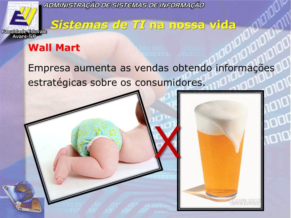 Sistemas de TI na nossa vida Wall Mart Empresa aumenta as vendas obtendo informações estratégicas sobre os consumidores. X