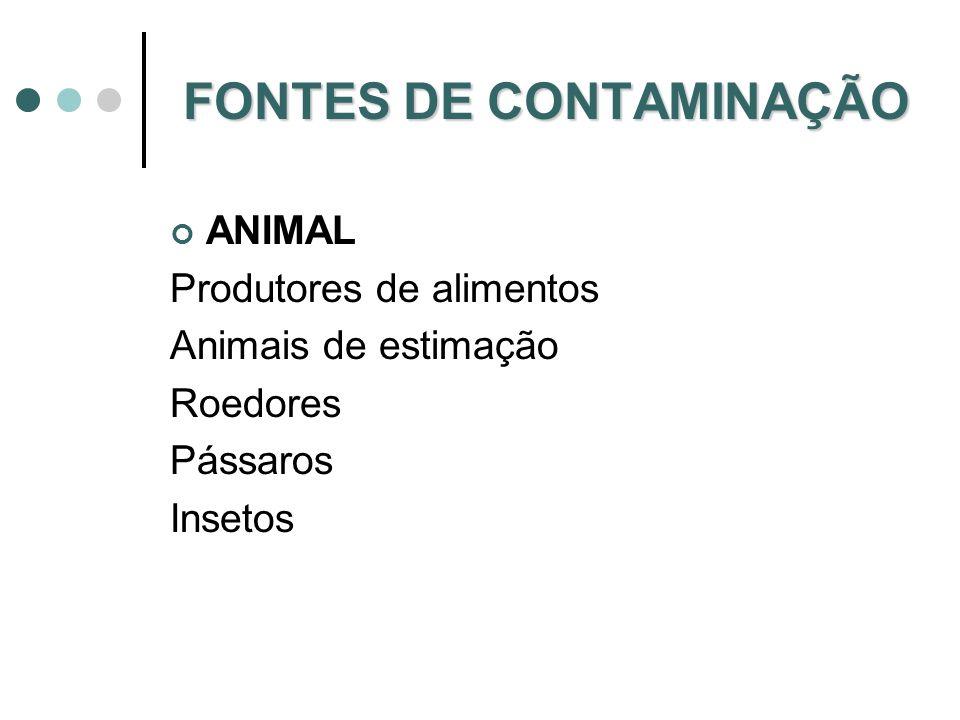 Contaminação alimentar via ambiente (terra, água e ar) Clostridium botulinum Bacilus cereus Aspergillus flavus Clostridium perfringens