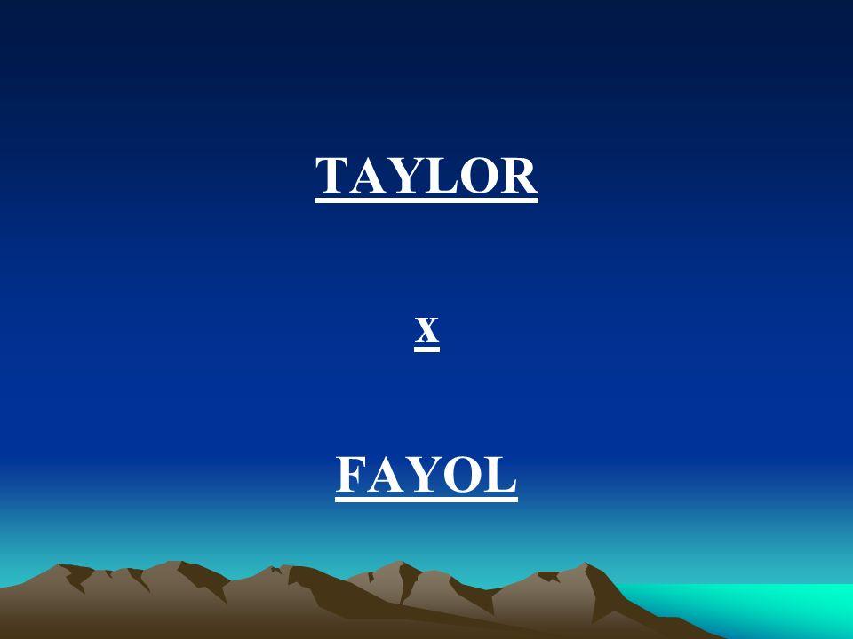 TAYLOR x FAYOL