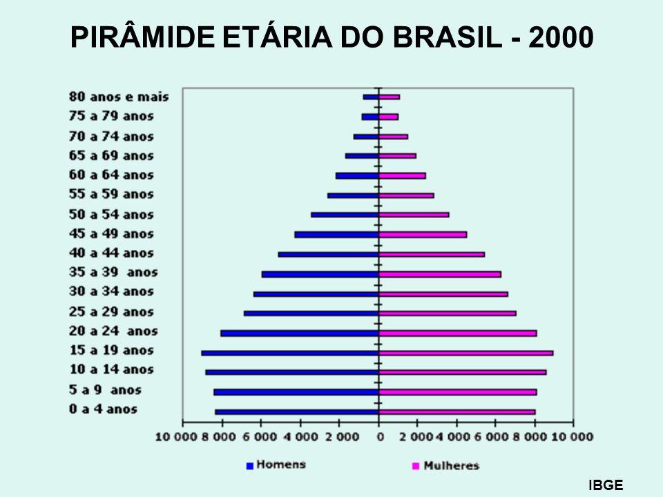 PIRÂMIDE ETÁRIA DO BRASIL - 2000 IBGE
