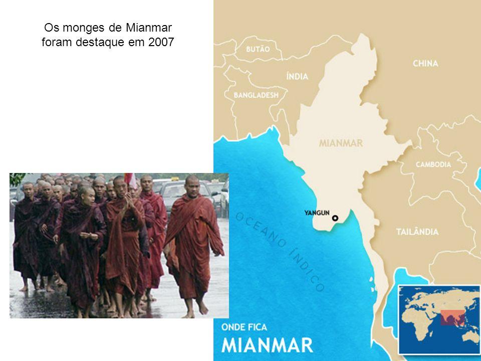 Os monges de Mianmar foram destaque em 2007