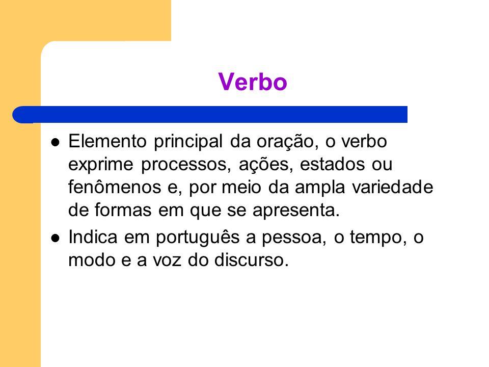 Tempos compostos Os tempos verbais compostos são formados por locuções verbais que têm como auxiliares os verbos ter e haver e como principal, qualquer verbo no particípio.