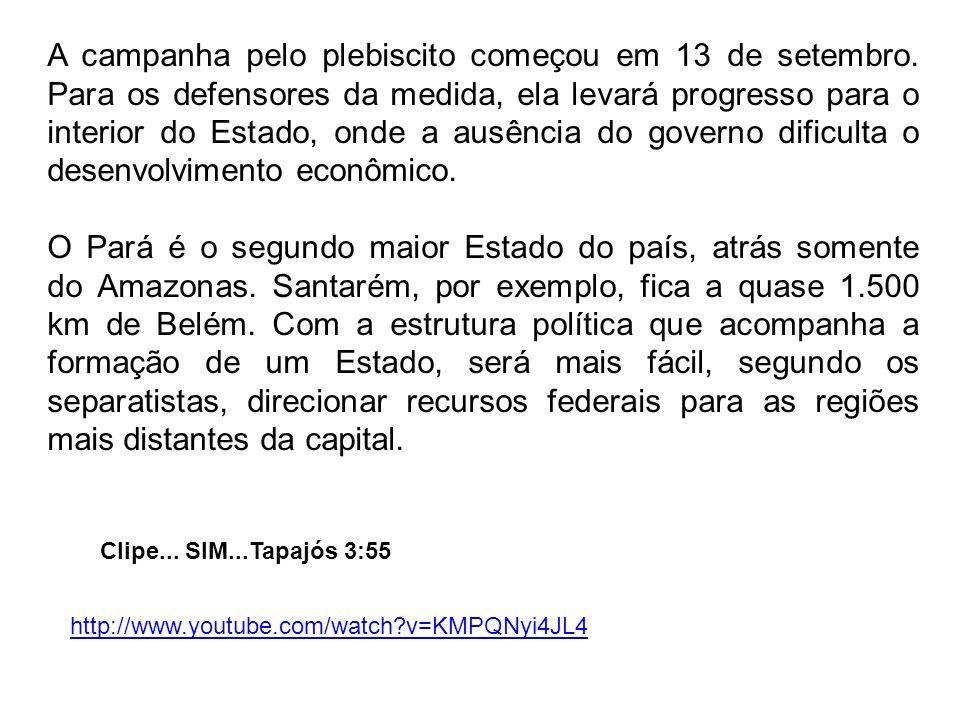 A campanha pelo plebiscito começou em 13 de setembro.