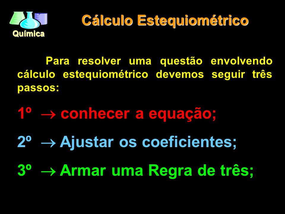 Química Relações Molares N 2 + 3H 2 2NH 3 Mol - 1Mol + 3Mol 2Mol Moléculas - 6 x10 23 + 18 x10 23 12 x10 23 Massa - 28g + 6g 34g Volume – 22,4L + 67,2