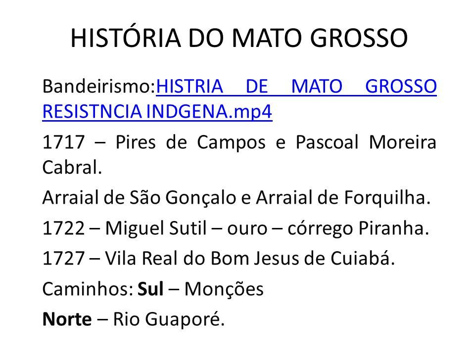 Bandeirismo:HISTRIA DE MATO GROSSO RESISTNCIA INDGENA.mp4HISTRIA DE MATO GROSSO RESISTNCIA INDGENA.mp4 1717 – Pires de Campos e Pascoal Moreira Cabral