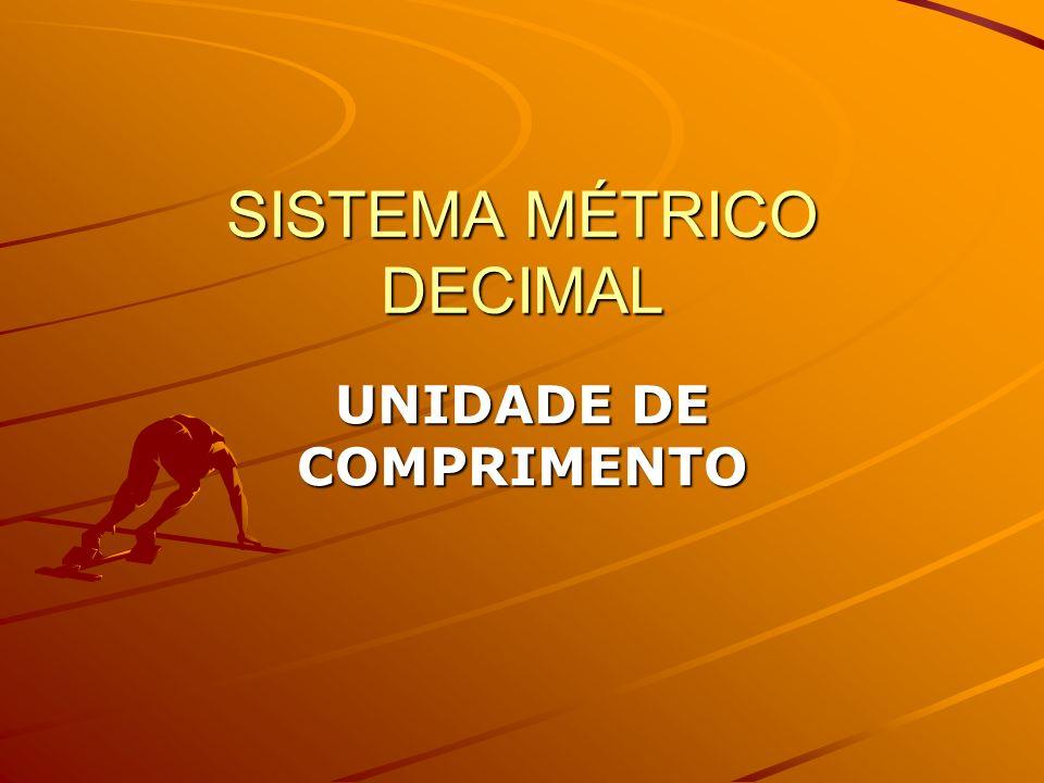 SISTEMA MÉTRICO DECIMAL UNIDADE DE COMPRIMENTO