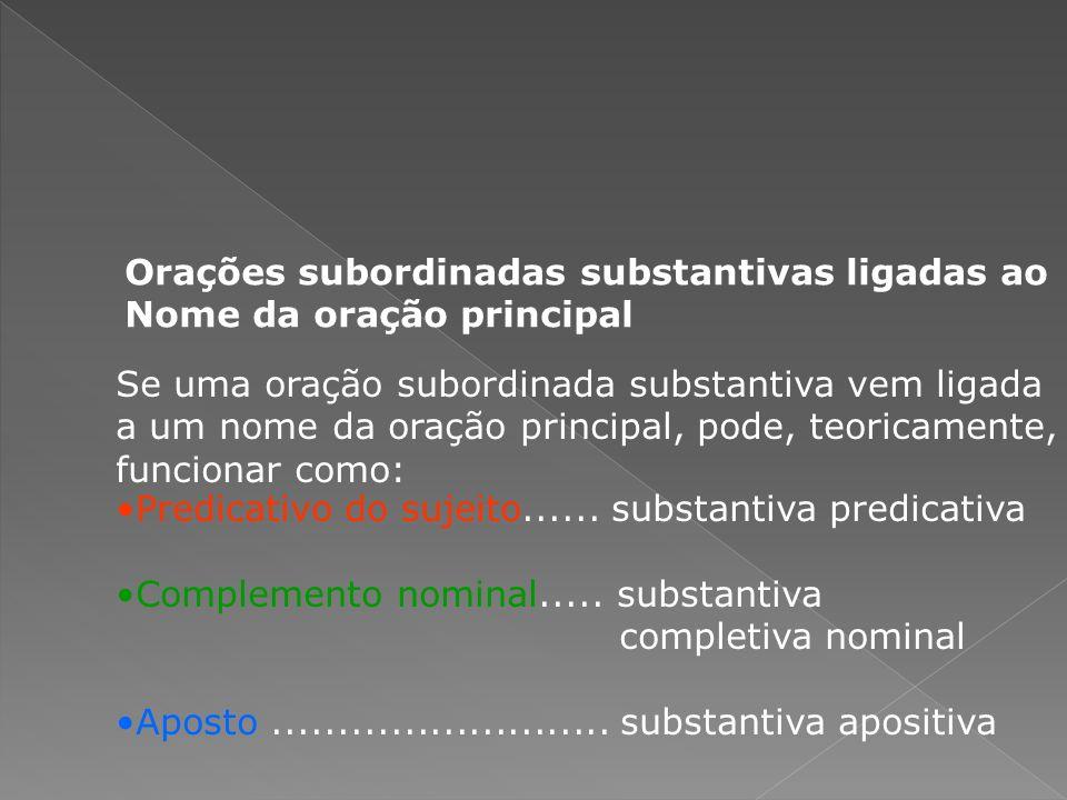 (a) subjetiva reduzida de infinitivo (b) subjetiva reduzida de infinitivo (c) objetiva direta (d) objetiva indireta reduzida de infinitivo (e) objetiva direta (f) objetiva direta (g) objetiva indireta (h) or.