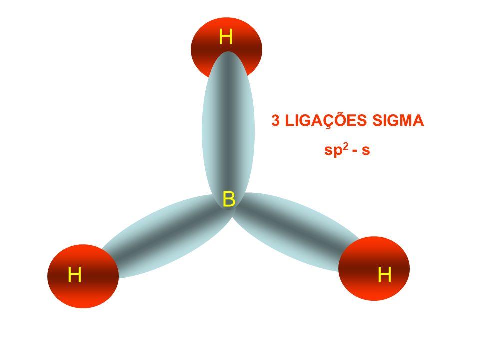 B F F F 3 LIGAÇÕES SIGMA sp 2 - p