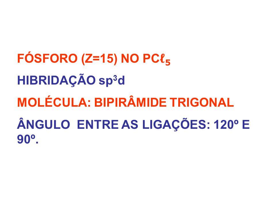 PC 5 - BIPIRÂMIDADE TRIGONAL - FÓSFORO COM 5 VALÊNCIAS IGUAIS.