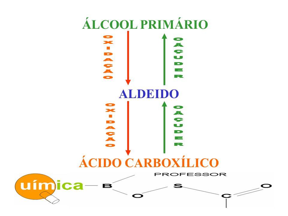 ÁLCOOL PRIMÁRIO ALDEIDO ÁCIDO CARBOXÍLICO