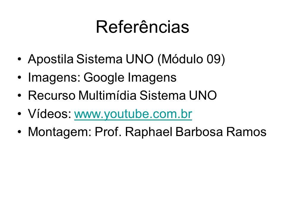 Referências Apostila Sistema UNO (Módulo 09) Imagens: Google Imagens Recurso Multimídia Sistema UNO Vídeos: www.youtube.com.brwww.youtube.com.br Monta