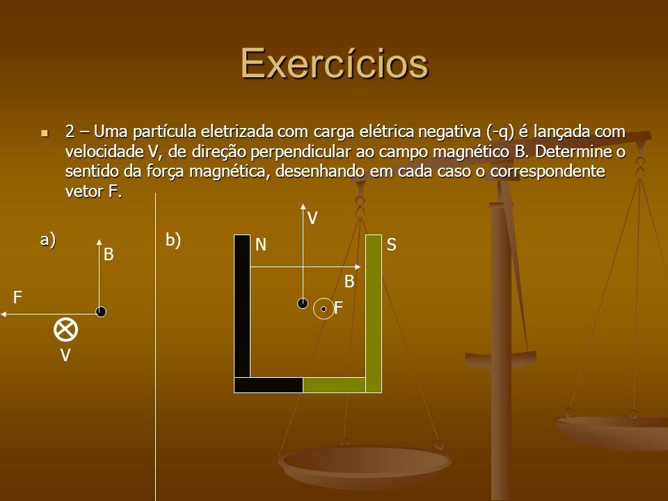 Exercícios Pág 72 – Apostila 03 – Aula 13 Pág 72 – Apostila 03 – Aula 13 1 – Uma partícula eletrizada com carga elétrica positiva (+q) é lançada com u
