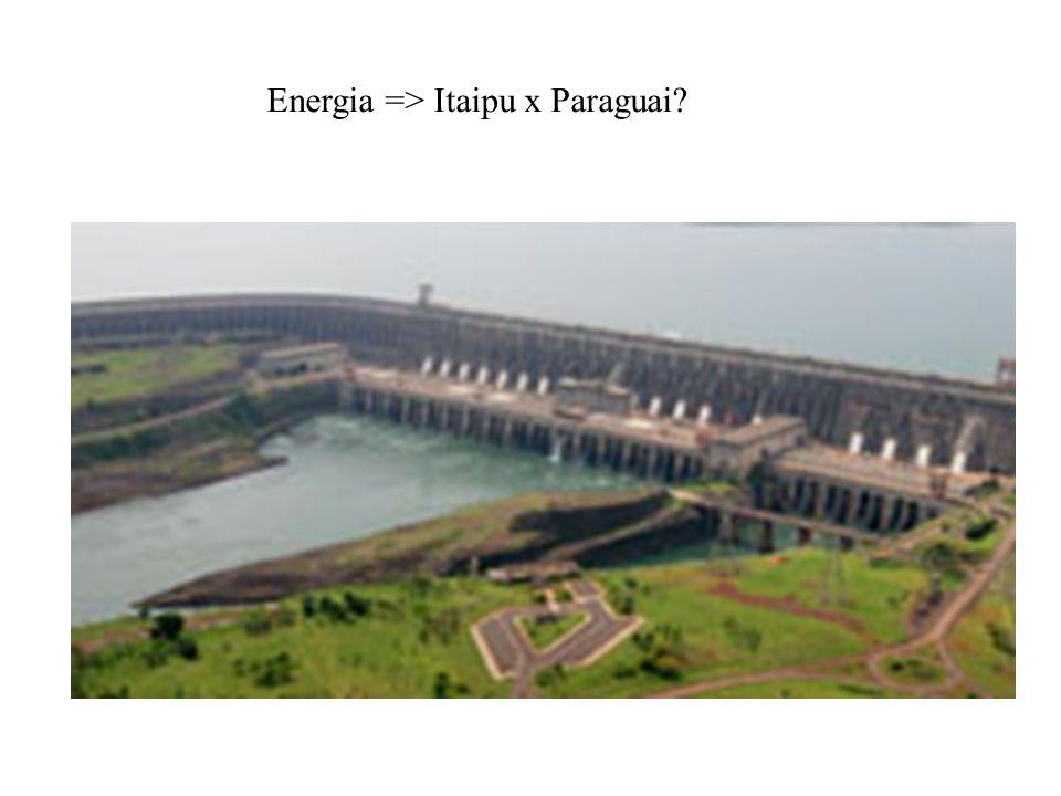 Energia => Itaipu x Paraguai?