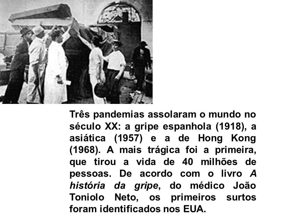 Três pandemias assolaram o mundo no século XX: a gripe espanhola (1918), a asiática (1957) e a de Hong Kong (1968). A mais trágica foi a primeira, que