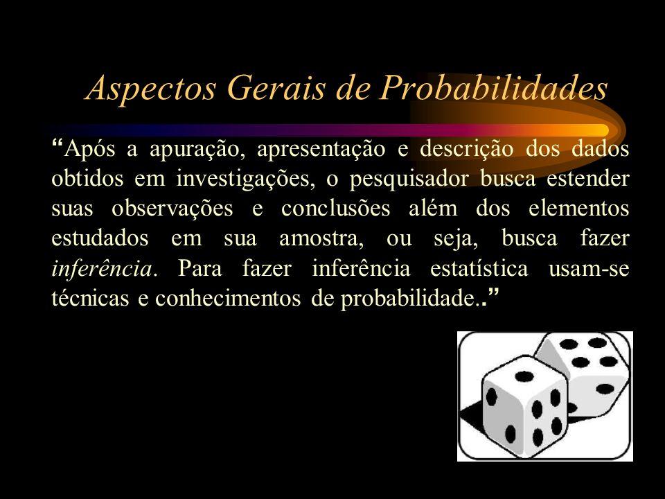 Probabilidade é um afirmação numérica sobre a possibilidade de que algo ocorra, quantifica o grau de incerteza dos eventos, variando de 0 a 1, ou 0% a 100%.