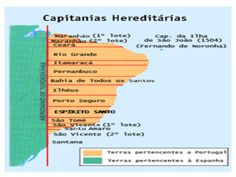 Expansão territorial O território inicialmente dominado pelos portugueses teve uma grande expansão, ultrapassando a linha de Tordesilhas.