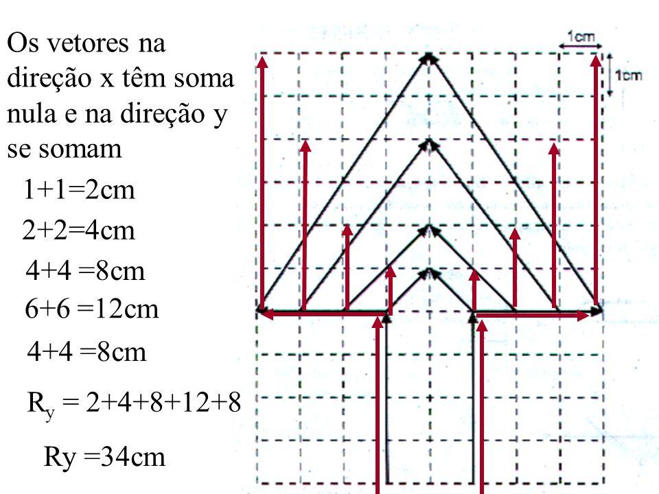 5. ( VUNESP- UFTM-SP-A figura apresenta uma arvore vetorial formada por vetores deslocamentos cuja resultante de todos os vetores representados tem mó
