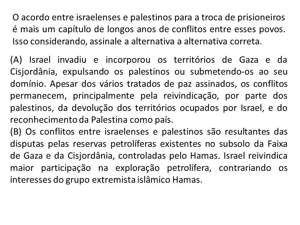 O acordo entre israelenses e palestinos para a troca de prisioneiros é mais um capítulo de longos anos de conflitos entre esses povos. Isso consideran