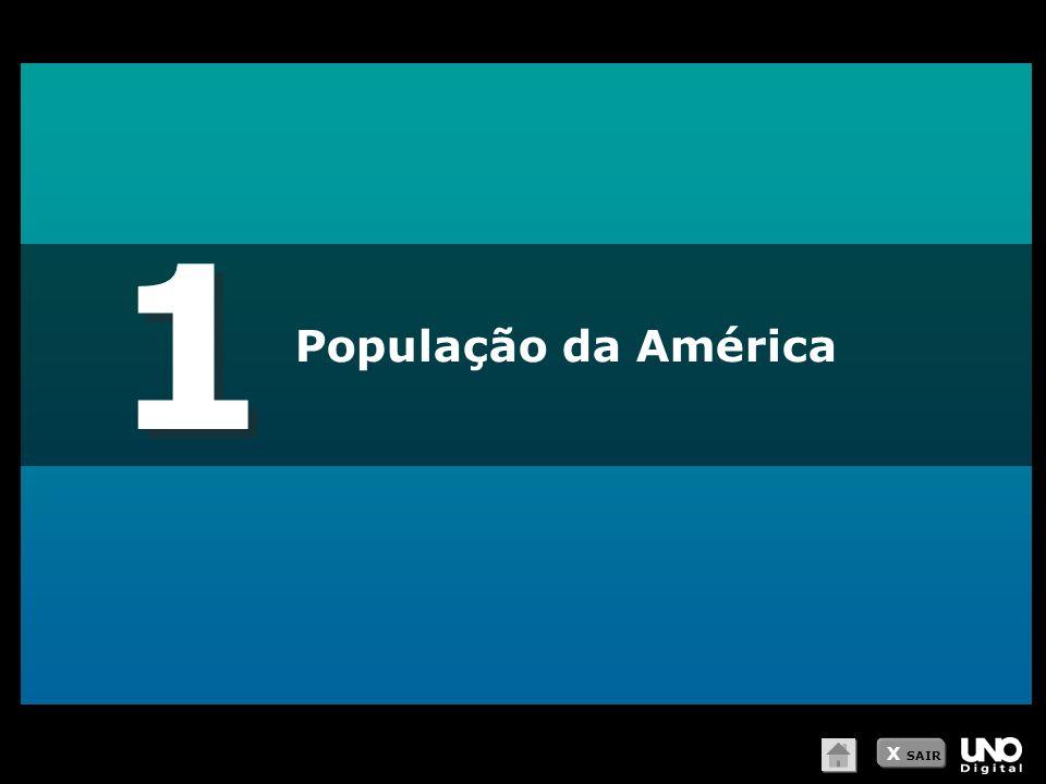 1 1 População da América X SAIR
