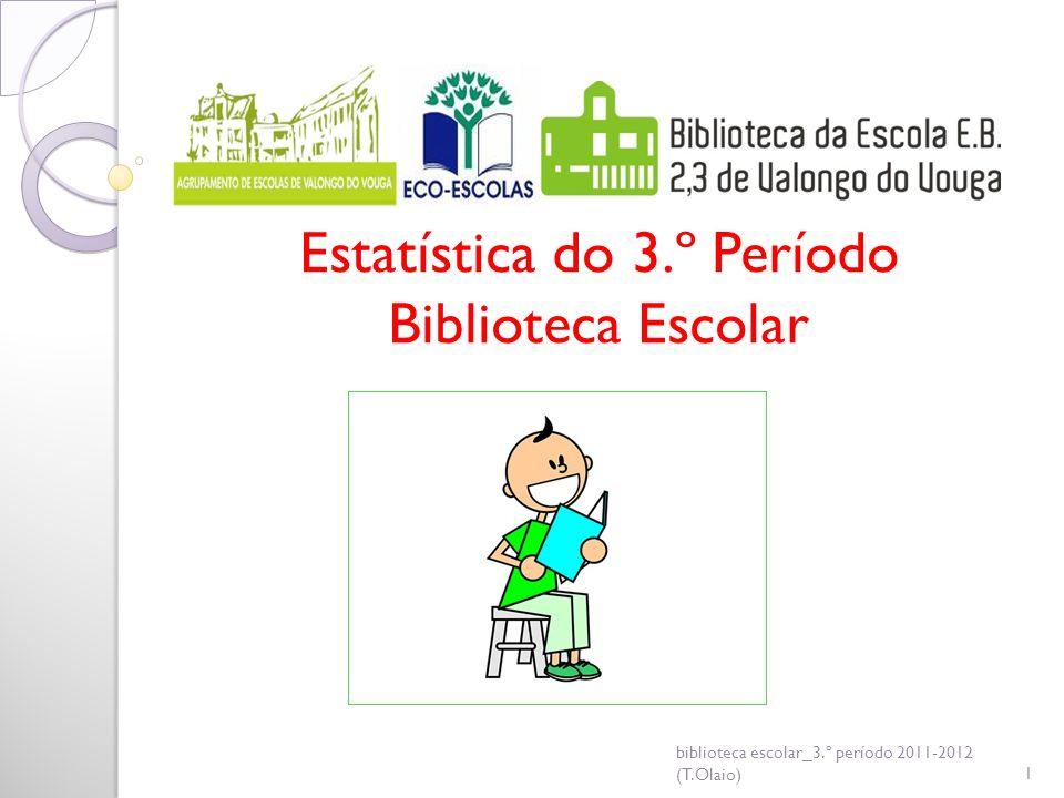 Estatística do 3.º Período Biblioteca Escolar biblioteca escolar_3.º período 2011-2012 (T.Olaio)1
