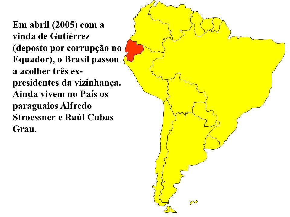 Na Bolívia, 10/06/2005, conflitos resultaram na queda do presidente Carlos Mesa o que acirraram as rivalidades entre os bolivianos que habitam os Ande