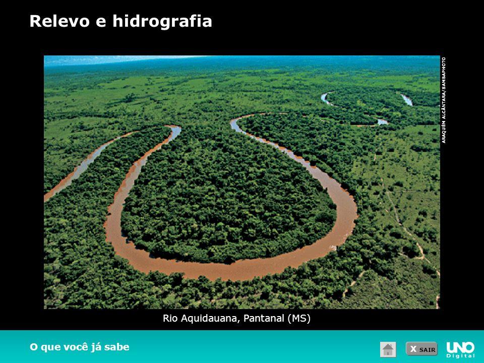 X SAIR O que você já sabe Rio Aquidauana, Pantanal (MS) ARAQUÉM ALCÂNTARA/SAMBAPHOTO Relevo e hidrografia